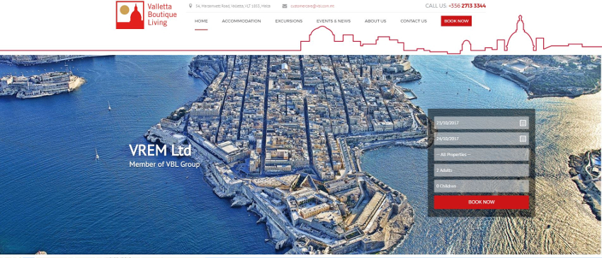 Valletta Boutique Living - Home Page